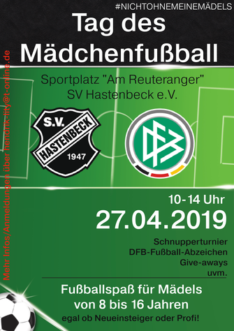 Flyer Tag des Mädchenfussballs in Hastenbeck