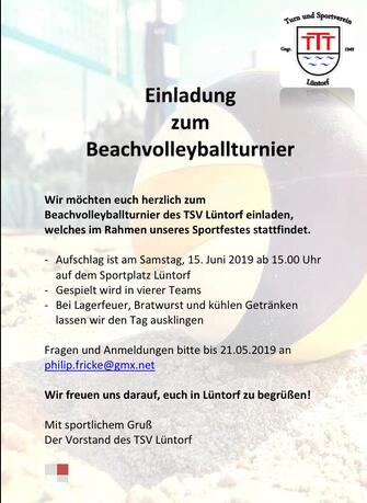 TSV Luentorf Sportfest Beachvolleyball Turnier AWesA