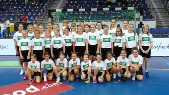 JSG Weserbergland Nationalmannschaft Einlaufkinder Handball AWesA
