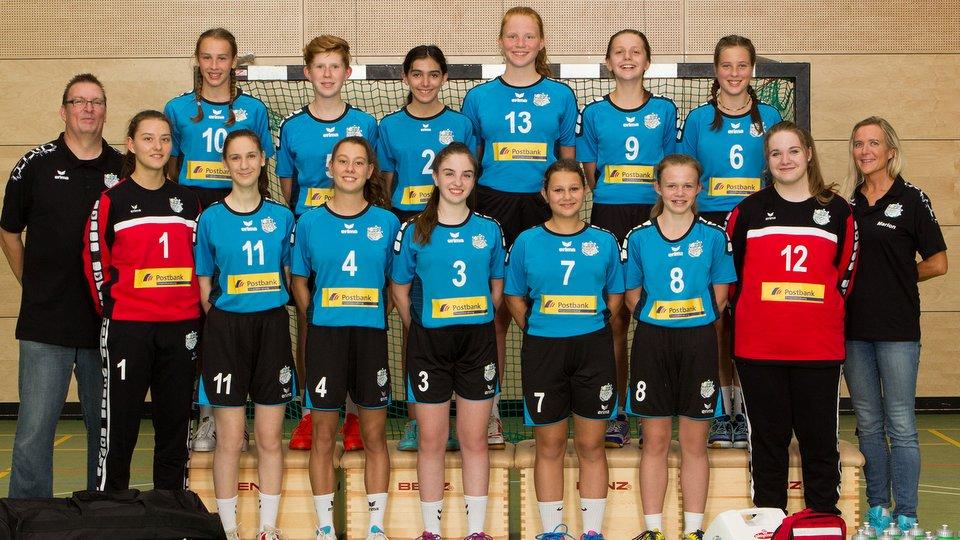 Weibliche C-Jugend JSG Weserbergland Mansnchaftsfoto